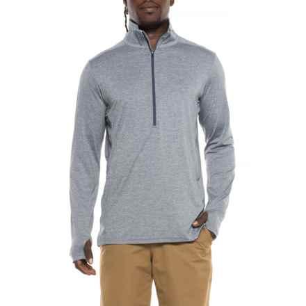 ExOfficio BugsAway® Sol Cool Shirt - UPF 50, Zip Neck, Long Sleeve (For Men) in Indigowash - Closeouts