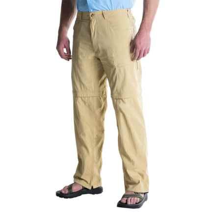 ExOfficio BugsAway® Ziwa Convertible Pants - UPF 30 (For Men) in Light Khaki - Closeouts