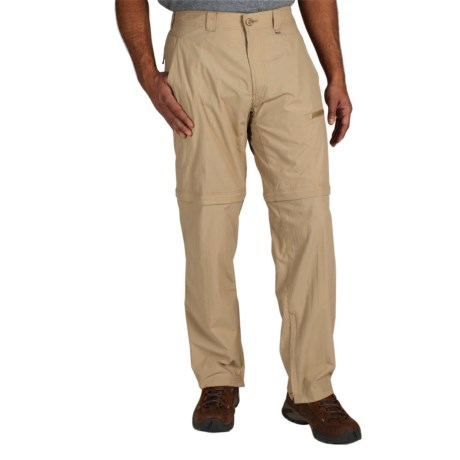 ExOfficio BugsAway® Ziwa Convertible Pants - UPF 30+ (For Men) in Light Khaki