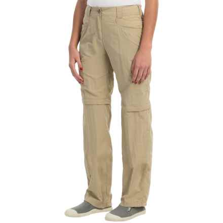 ExOfficio BugsAway® Ziwa Convertible Pants - UPF 30+ (For Women) in Light Khaki - Closeouts