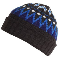 ExOfficio Cafenista Jacquard Beanie Hat - Wool Blend (For Women) in Oyster