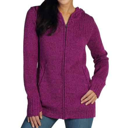 ExOfficio Cafenista Marled Hoodie Sweater - Zip Front (For Women) in Dazzle - Closeouts