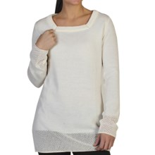 ExOfficio Cafenista Square Neck Tunic Shirt - UPF 15+, Wool Blend, Long Sleeve (For Women) in Vellum - Closeouts