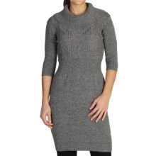 ExOfficio Cafenista Sweater Dress - 3/4 Sleeve (For Women) in Cement - Closeouts