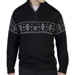 ExOfficio Cafenisto Jacquard Sweater (For Men) in Black