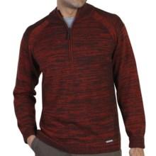 ExOfficio Cafenisto Sweater - Zip Neck (For Men) in Hydrant/Coffee - Closeouts