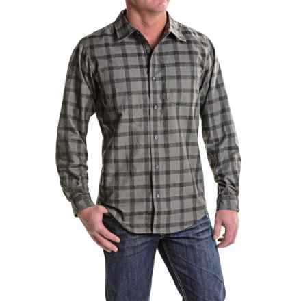 ExOfficio Calator Plaid Shirt - Long Sleeve (For Men) in Black - Closeouts