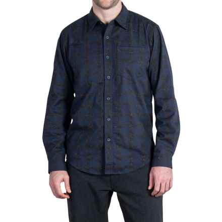 ExOfficio Calator Plaid Shirt - Long Sleeve (For Men) in Navy - Closeouts