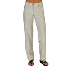 ExOfficio Caletta Pants - Linen Blend (For Women) in Papyrus - Closeouts