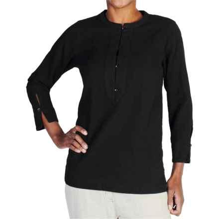 ExOfficio Caletta Tunic Shirt - Long Sleeve (For Women) in Black - Closeouts