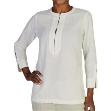 ExOfficio Caletta Tunic Shirt - Long Sleeve (For Women) in Linen - Closeouts