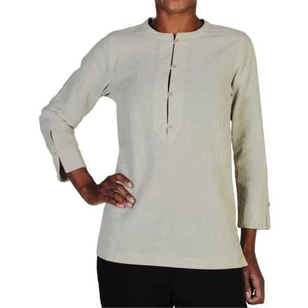 ExOfficio Caletta Tunic Shirt - Long Sleeve (For Women) in Papyrus - Closeouts