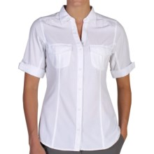 ExOfficio Camina Trekr Shirt - UPF 50+, Short Sleeve (For Women) in White - Closeouts
