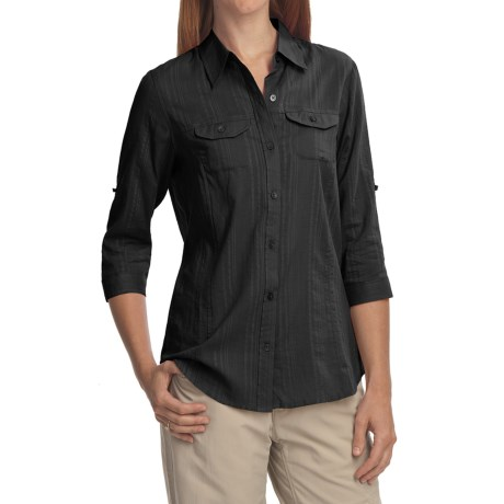 ExOfficio Campista Shirt - 3/4 Sleeve (For Women) in Light Seaglass