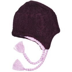 ExOfficio Chaleur Boucle Flap Beanie Hat (For Women) in Dark Thistle