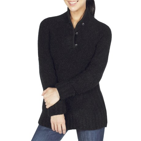 ExOfficio Chaleur Boucle Henley Sweater (For Women) in Black