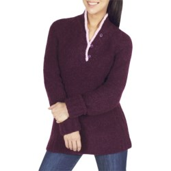 ExOfficio Chaleur Boucle Henley Sweater (For Women) in Dark Thistle