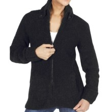 ExOfficio Chaleur Boucle Sweater - Full Zip (For Women) in Black - Closeouts