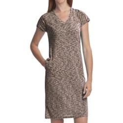 ExOfficio Chica Cool Dress - V-Neck, Short Sleeve (For Women) in Dark Pebble