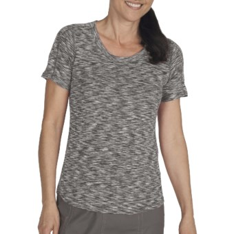 ExOfficio Chica Cool Shirt - Short Sleeve (For Women) in Dark Pebble