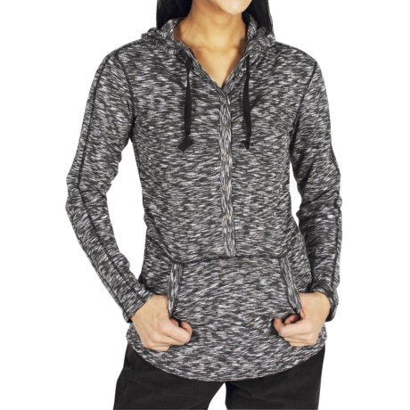 ExOfficio Chica Cool Snap Hoodie Sweatshirt - UPF 20+, Dri-Release®, FreshGuard® (For Women) in Black