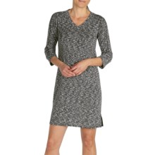 ExOfficio Chica Cool Space-Dye Dress - UPF 20+, Dri-Release®, FreshGuard®, 3/4 Sleeve (For Women) in Black - Closeouts