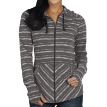 ExOfficio Chica Cool Stripe Hoodie - UPF 20+, Full Zip (For Women) in Cement - Closeouts