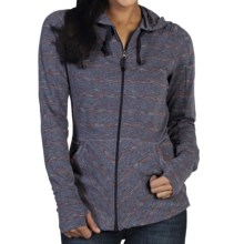 ExOfficio Chica Cool Stripe Hoodie - UPF 20+, Full Zip (For Women) in Evening - Closeouts