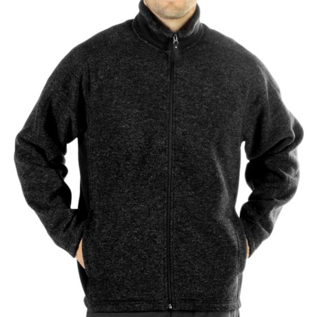 ExOfficio Chugo Fleece Cardigan Sweatshirt - Zip (For Men) in Black