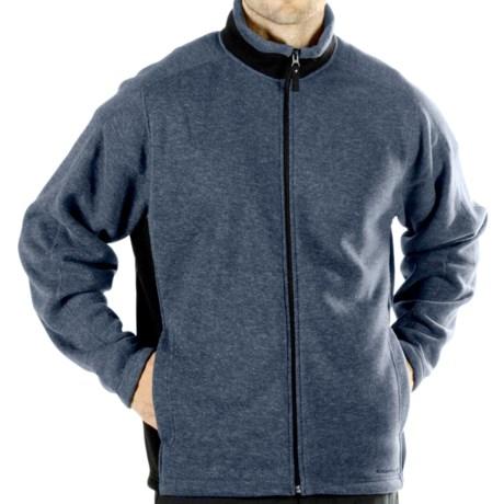 ExOfficio Chugo Fleece Cardigan Sweatshirt - Zip (For Men) in Black
