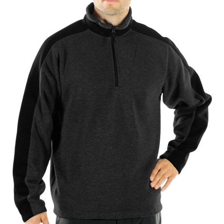 ExOfficio Chugo Fleece Pullover Shirt - Zip Neck, Long Sleeve (For Men) in Black