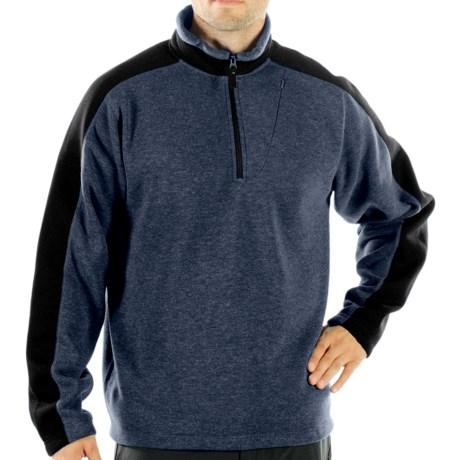 ExOfficio Chugo Fleece Pullover Shirt - Zip Neck, Long Sleeve (For Men) in Black