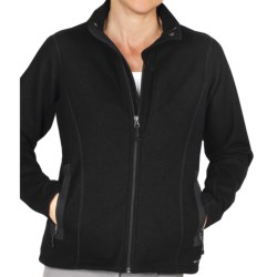 ExOfficio Consolo Fleece Jacket - Full Zip (For Women) in Black