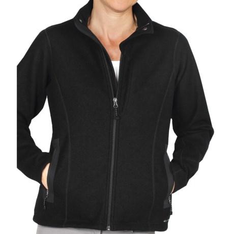 ExOfficio Consolo Fleece Jacket - Full Zip (For Women) in Black