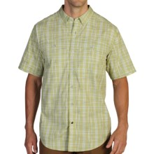 ExOfficio Contour'd Plaid Shirt - UPF 20+, Button Front, Short Sleeve (For Men) in Pistachio - Closeouts