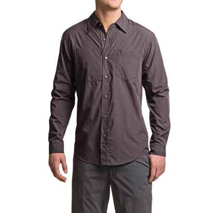 ExOfficio Corsico Check Shirt - UPF 30, Long Sleeve (For Men) in Black - Closeouts