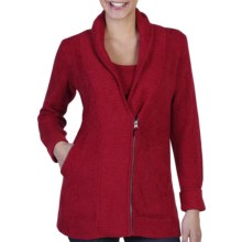 ExOfficio Delana Zip Cardigan Sweater (For Women) in Framboise - Closeouts