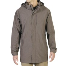ExOfficio Deluvian Rain Trench Coat - Hooded (For Men) in Coffee Heather - Closeouts