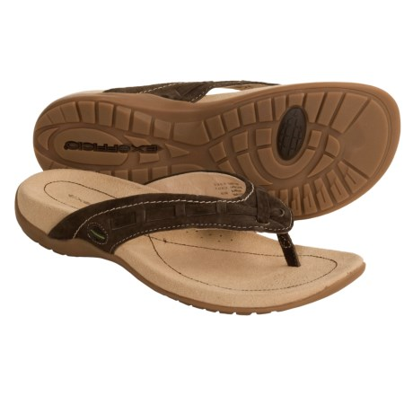 ExOfficio Devata Thong Sandals - Leather (For Women) in Mink