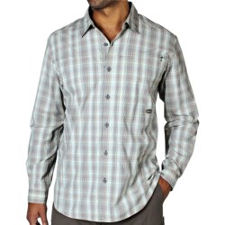 ExOfficio Dryfly Flex Midi Plaid Shirt - UPF 30+, Roll-Up Long Sleeve (For Men) in Dusty Olive