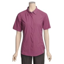 ExOfficio Dryfly Flex Shirt - UPF 30+, Short Sleeve (For Women) in Hibiscus - Closeouts