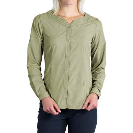 ExOfficio Dryflylite Blouse - UPF 30+, Long Sleeve (For Women) in Botanic - Closeouts