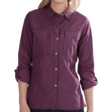 ExOfficio Dryflylite Check Shirt - UPF 30, Long Sleeve (For Women) in Antique - Closeouts