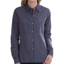 ExOfficio Dryflylite Check Shirt - UPF 30, Long Sleeve (For Women) in Isle - Closeouts