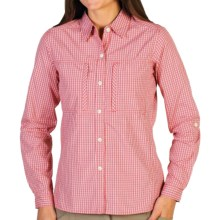 ExOfficio Dryflylite Check Shirt - UPF 30, Long Sleeve (For Women) in Nectar - Closeouts