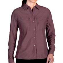 ExOfficio Dryflylite Shirt - Long Sleeve (For Women) in Antique - Closeouts