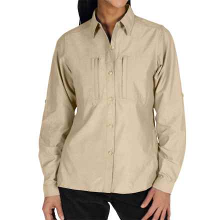 ExOfficio Dryflylite Shirt - Long Sleeve (For Women) in Bone - Closeouts