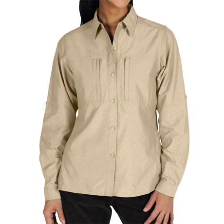 ExOfficio Dryflylite Shirt - Long Sleeve (For Women) in Bone