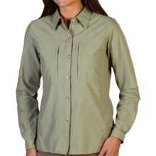 ExOfficio Dryflylite Shirt - Long Sleeve (For Women) in Botanic - Closeouts