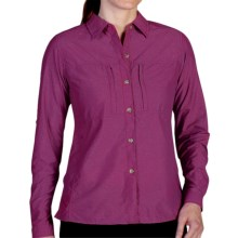 ExOfficio Dryflylite Shirt - Long Sleeve (For Women) in Dazzle - Closeouts
